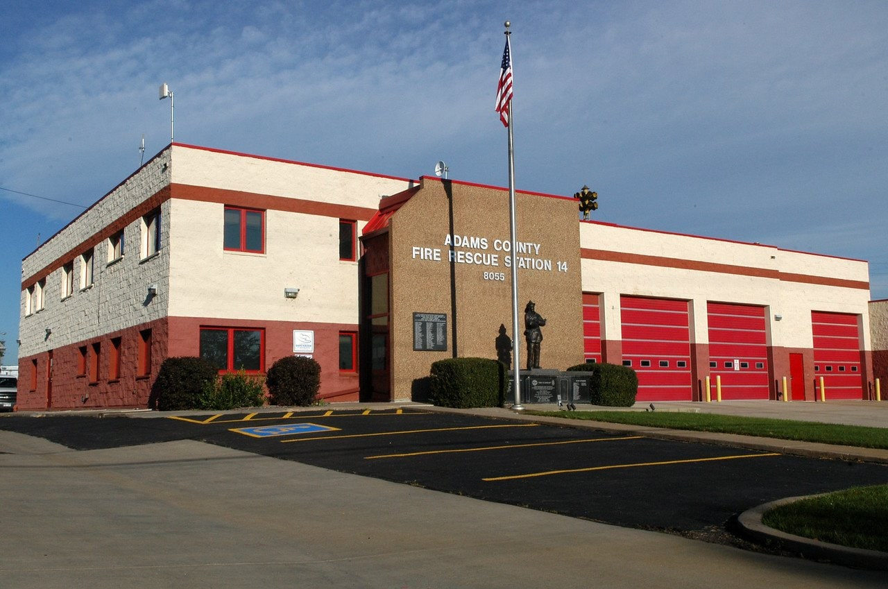 Street view of Adams County Fire Rescue Station 14